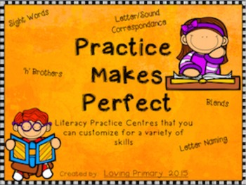 Practice Makes Perfect - Basic Literacy Stations to Practi