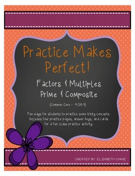 Practice Makes Perfect - Factors, Multiples, Prime, and Co