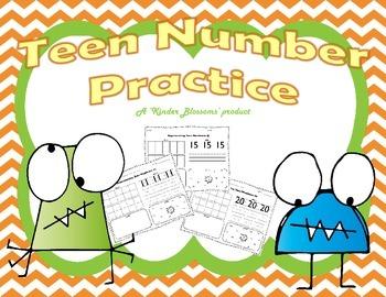 Practice Number Concepts: Teen Numbers