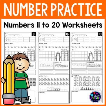 Number Practice Worksheets 11 to 20
