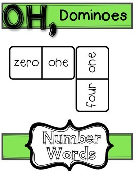 Practice Number Words with Dominoes
