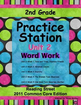 Practice Stations: Unit 2, Word Work, 2nd Grade, Reading S
