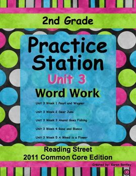 Practice Stations: Unit 3, Word Work, 2nd Grade, Reading S
