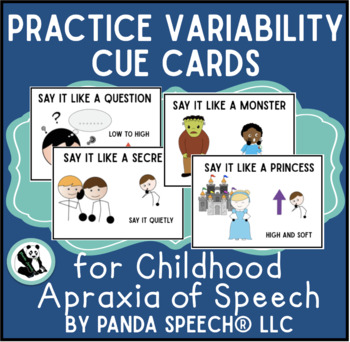 Practice Variability Cue Cards for Childhood Apraxia of Sp