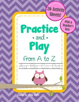 Practice and Play Alphabet from A to Z - Trace, Write, and Color!
