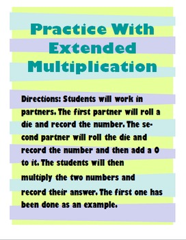 Practice with Extended Multiplication