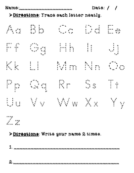 Practice with Letters (A-Z) and Numbers 1-10