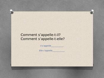 Practice with Names : Il/Elle s'appelle