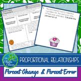 Percent Change and Percent Error Worksheets- 7.RP.3