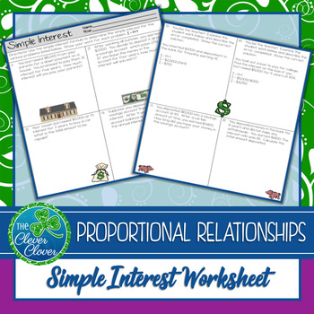 Simple Interest Worksheets -7.RP.3