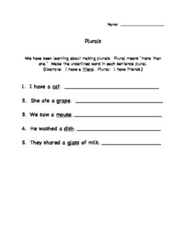 Practice with Plurals