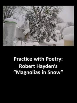 """Practice with Poetry—Robert Hayden's """"Magnolias in Snow"""""""