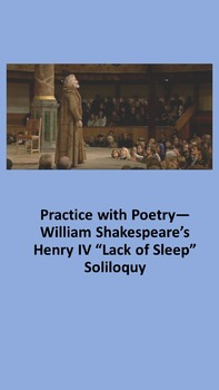 "Practice with Poetry— William Shakespeare's Henry IV ""Lack"
