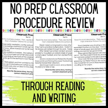 Practicing Classroom Procedures Through Writing Activities