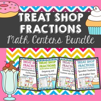 Practicing Fraction Skills Math Centers BUNDLE