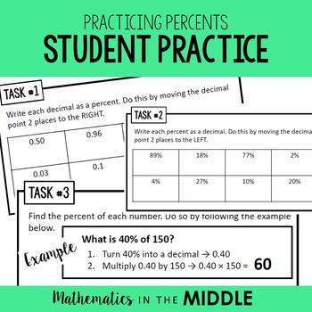 Practicing Percents