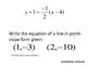 Practicing Point-Slope Form - Scavenger Hunt - PP