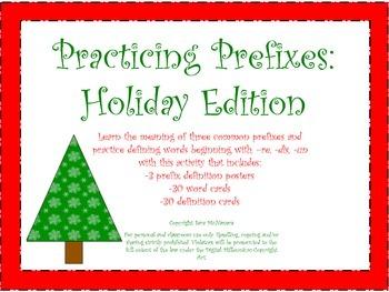 Practicing Prefixes: Holiday Edition