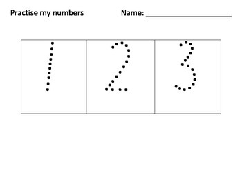 Practise my Numbers Multiple Pages NSW Foundation Style