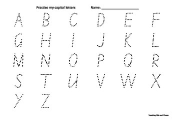 Practise tracing Capital Letters
