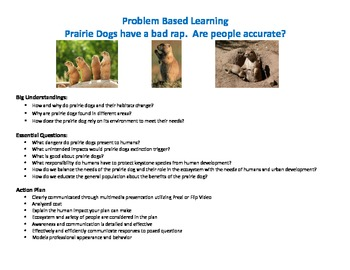 Prairie Dog Problem Based Learning - STEM Education