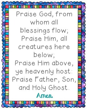Praise God From Whom All Blessings Flow Poster. Prayer, Bl