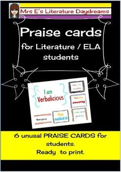 Praise cards freebie