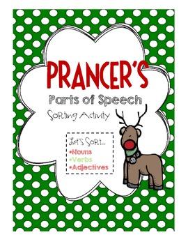 Prancer's Parts of Speech Sorting Activity [FREEBIE!]