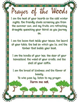 Prayer of the Woods Printables