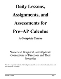 Pre-AP* Calculus--Unit #1--Introduction to Functional Anal