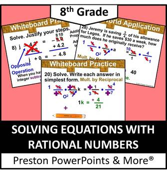 (8th) Solving Equations with Rational Numbers in a PowerPo
