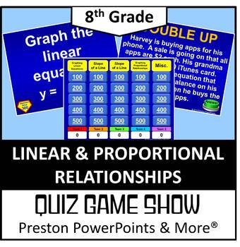 (8th) Quiz Show Game Linear and Proportional Relationships