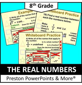 (8th) The Real Numbers in a PowerPoint Presentation