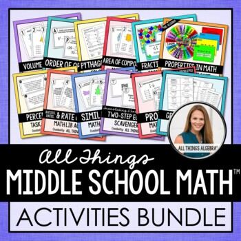 Pre-Algebra Activities Mega Bundle
