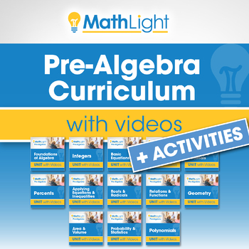 Pre Algebra Curriculum with Videos [Growing Bundle]