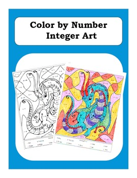 Pre-Algebra: Adding and Subtracting Integers Color by Numb