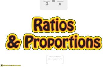 Pre-Algebra: Ratios and Proportions Unit (10 Prezi/iPad Lessons)