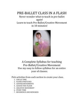 Dance: Preballet Class in a Flash! Creative Movement too!