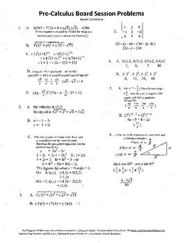 Pre-Calculus Board Session 12,ACT/ SAT Prep,vectors,solve