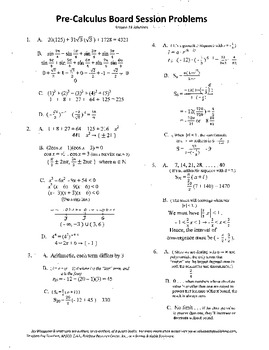 Pre-Calculus Board Session 13,ACT/ SAT Prep,series,limits,