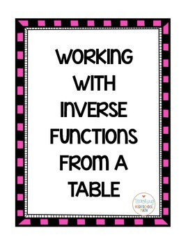 PreCalculus Inverse Functions
