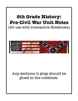Pre-Civil War Interactive Notebook Foldable Files