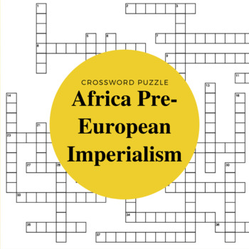 Pre-European Africa Crossword Puzzle
