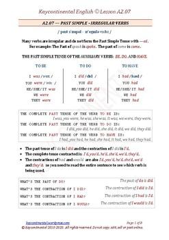 Pre-Intermediate - Lesson A2.07