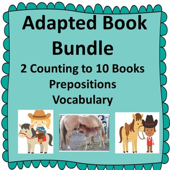 Pre K Adapted Book Bundle Special Education Autism