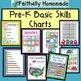 Pre-K Basic Skills Learning Charts