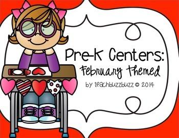 Pre-K Centers: February Themed