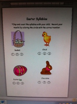 Pre-K Easter Syllables