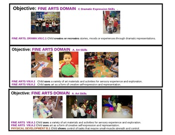 Pre-K Fine Arts Visual Objectives from TEA Guidelines
