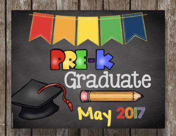 Pre-K Graduation - Chalkboard Posters - Signs - Photo Prop